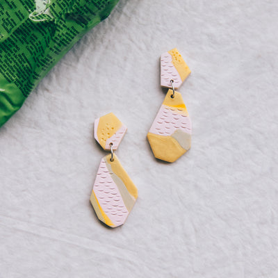 Tropical Abstract Landscapes Earrings #5