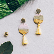 Tropical Abstract Landscapes Earrings #7