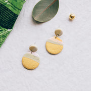 Tropical Abstract Landscapes Earrings #1
