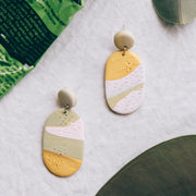 Tropical Abstract Landscapes Earrings #3