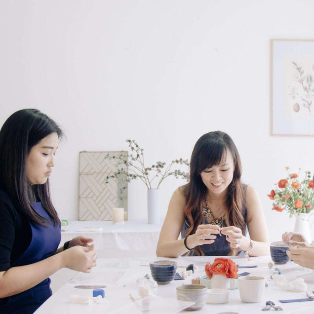 FOILING Edition - Creative jewellery design workshop, a creative and relaxing activity in Singapore - Longue Vue Design
