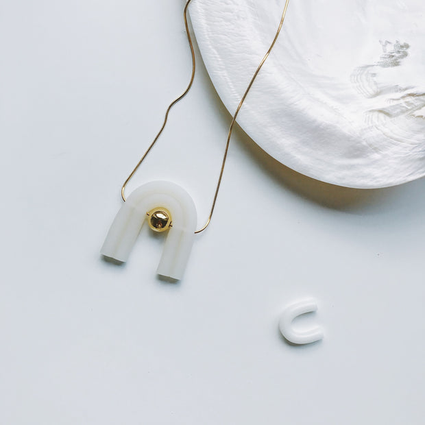 Bauhaus  necklace white