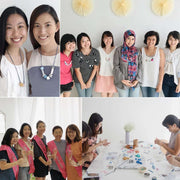 Knots/Ombré/Foiling - Advanced jewellery design workshop, a creative and relaxing activity in Singapore - Longue Vue Design