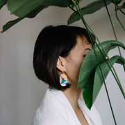 Abstract Landscapes Earrings #4