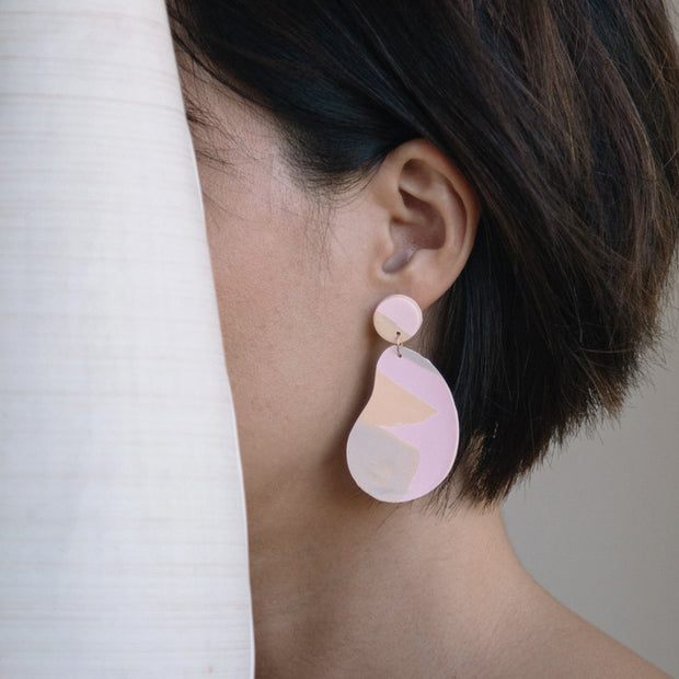 Abstract Landscapes Earrings - Mango