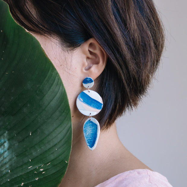 Abstract Landscapes Earrings #3