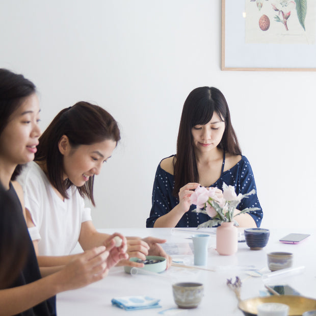 Workshop: jewellery dish + ring cone, a creative and relaxing activity in Singapore - Longue Vue Design
