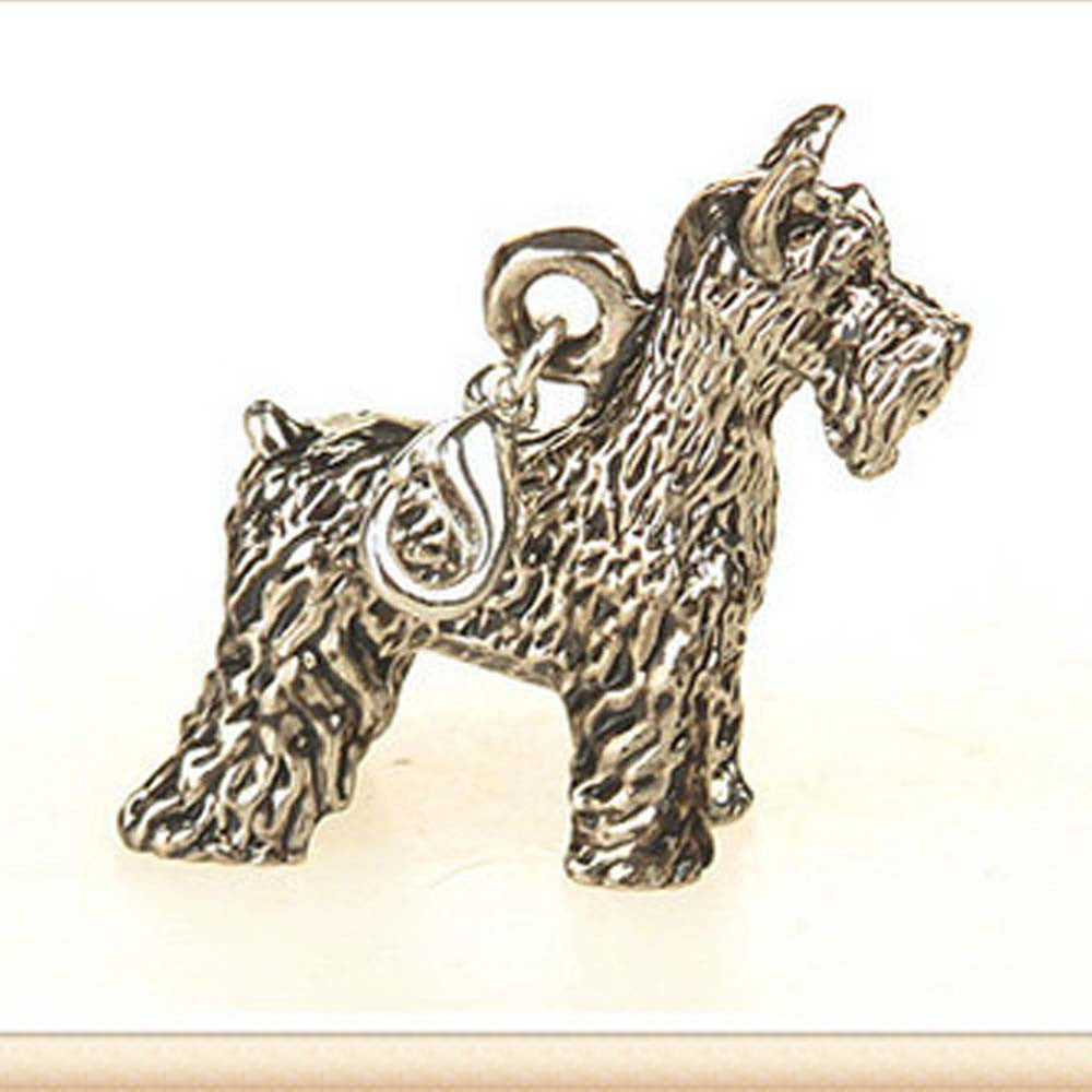 2016 New hot fashion Cute animal Schnauzer Dog key chain small Lovely Pet key ring Anti-Silver Plated brithday gift for friends