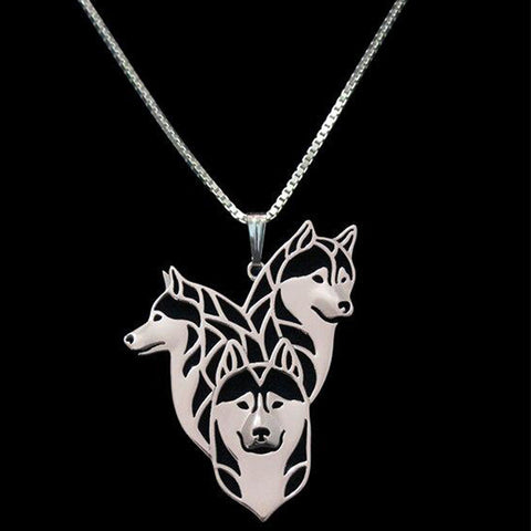 Newest Handmade Siberian Husky family Necklace Dog Jewelry Pet Lovers Gift Idea