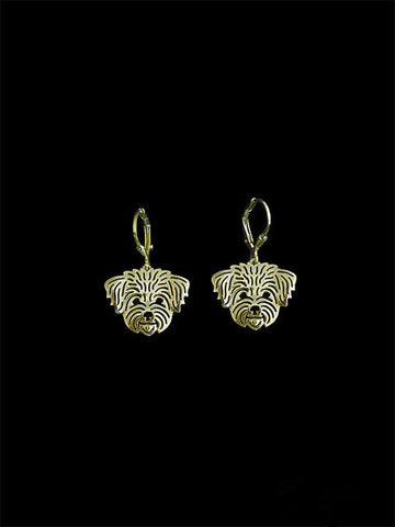 2016 Trendy cute Shih Tzu pet drop earrings gold silver plated wholesale earrings women fashion jewelry from india bridal earing