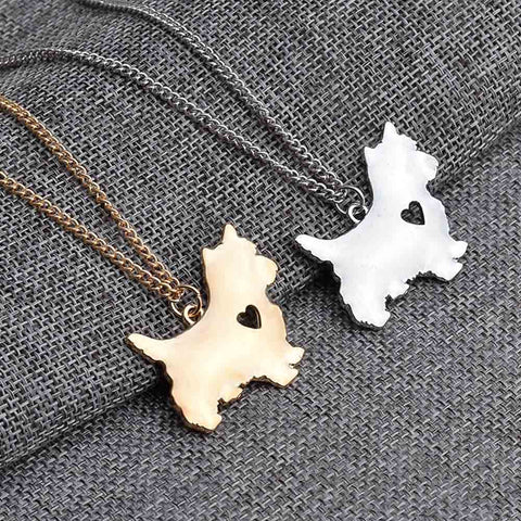 Yorkie Necklace Yorkshire Terrier Pendant Puppy Heart Dog Memorial Pet Necklaces & Pendants Women Animal Christmas Gift