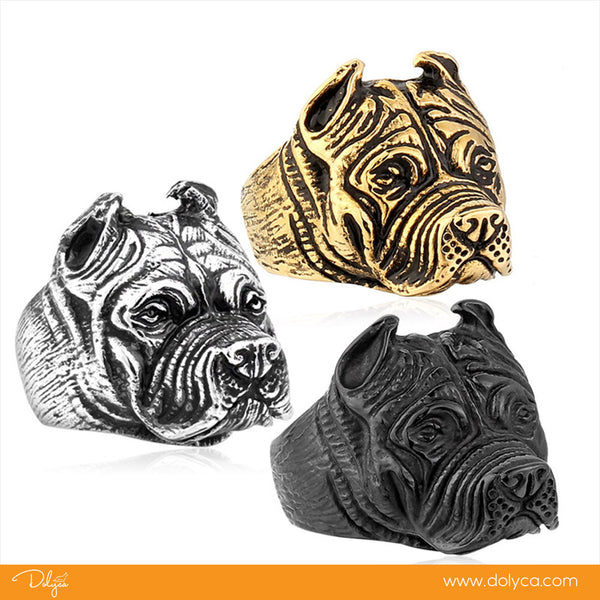 316L Stainless Steel Titanium Animal Pit Bull Dog Ring