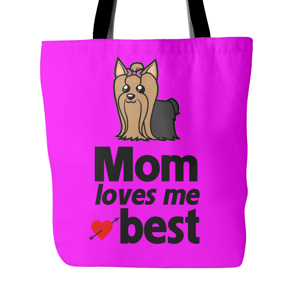 Mom Loves Me Best Tote Bags