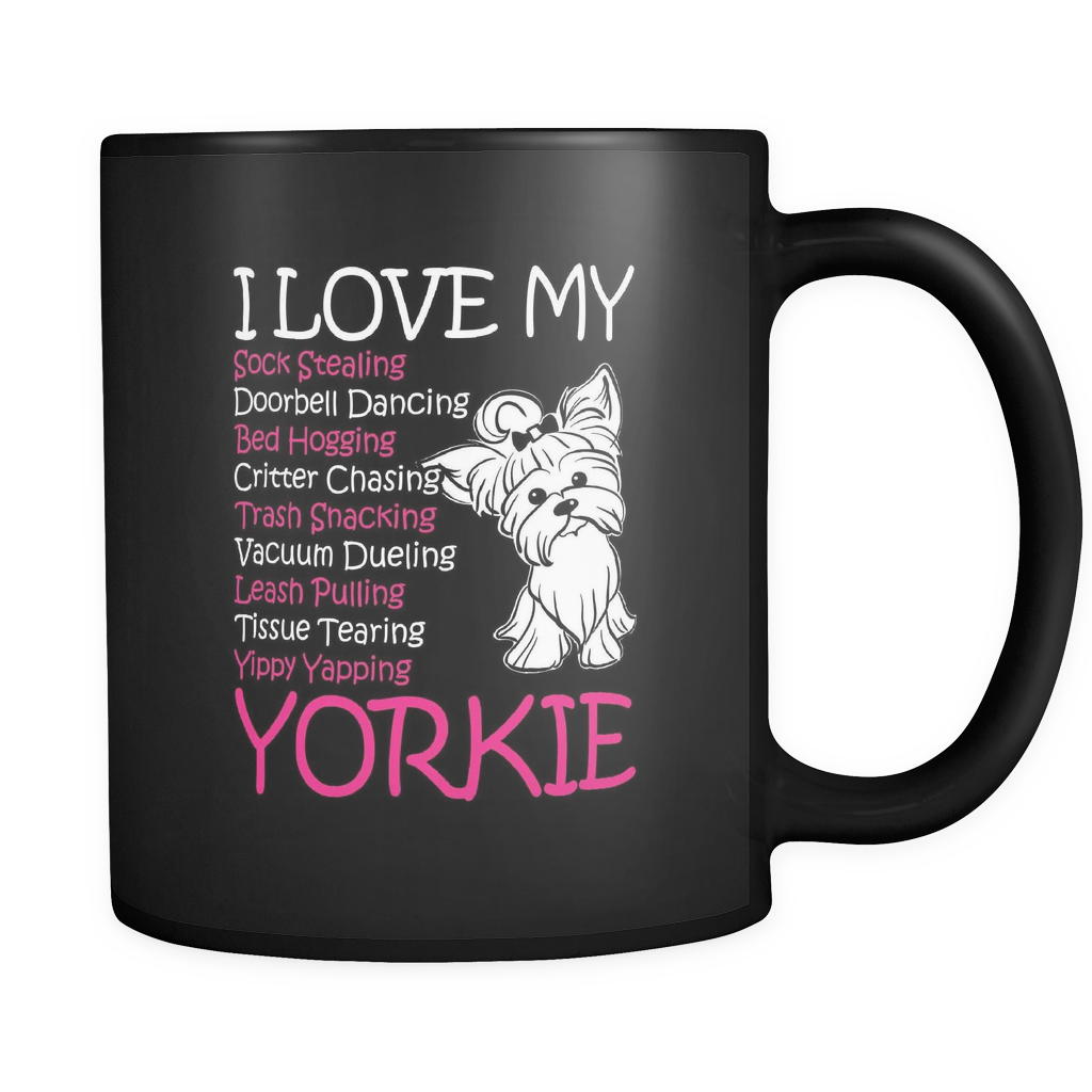 NEW I LOVE YORKIE MUGS