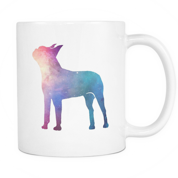 Boston terrier shadow mug