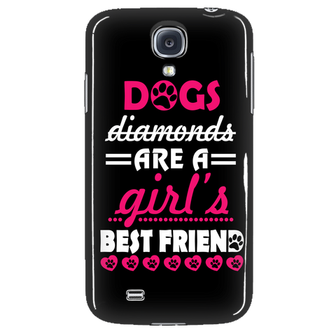 Dogs diamonds are a girl's best friend Phone Cases
