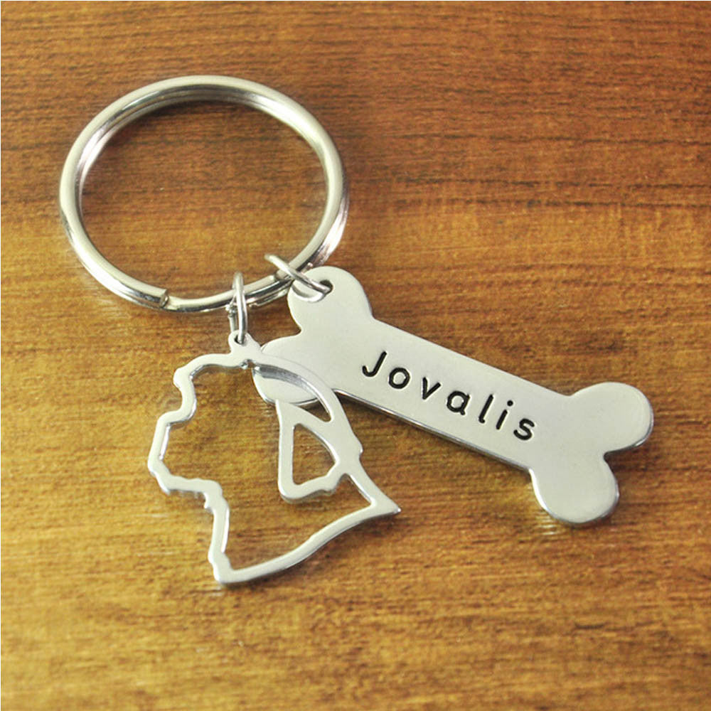 Shih Tzu Keychain Custom Dog Lover Keychain Personalized Shih Tzu Keyring Custom Dog key ring