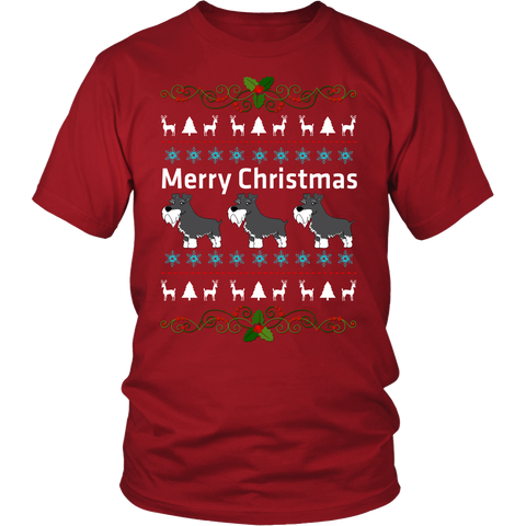 Schnauzer Merry Christmas T shirt  sweater