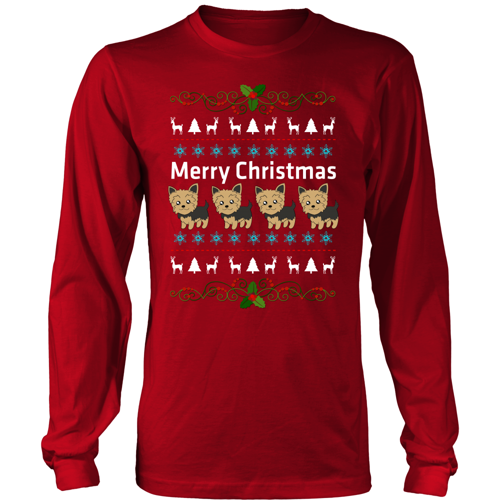 Yorkie Merry Christmas T shirt  sweater