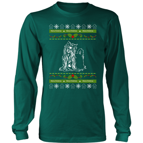 Yorkie Ugly Christmas T shirt sweater