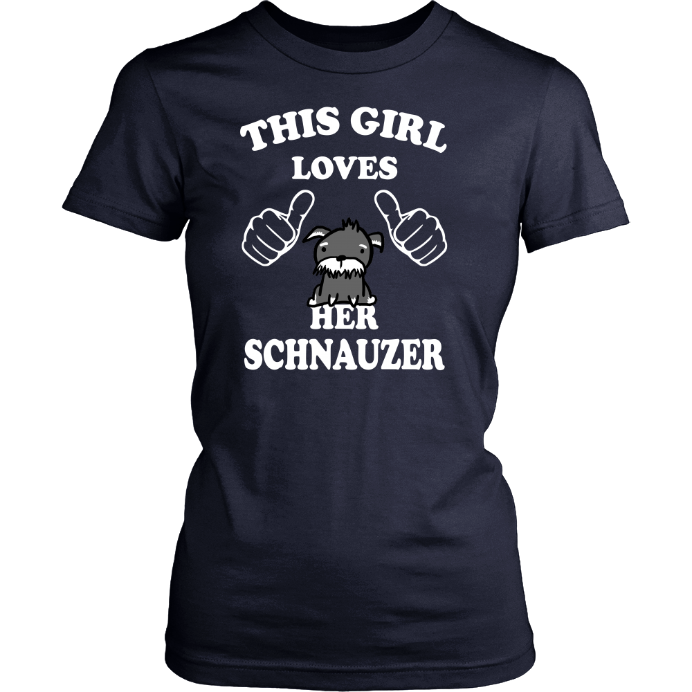 This girl loves her schnauzer T shirt