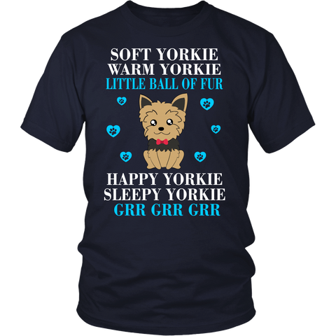 Soft yorkie warm yorkie little ball of fur T shirt