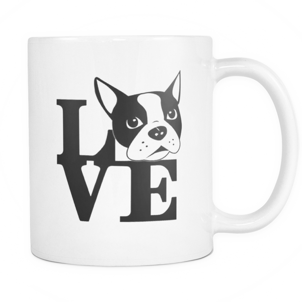 Boston terrier face mug