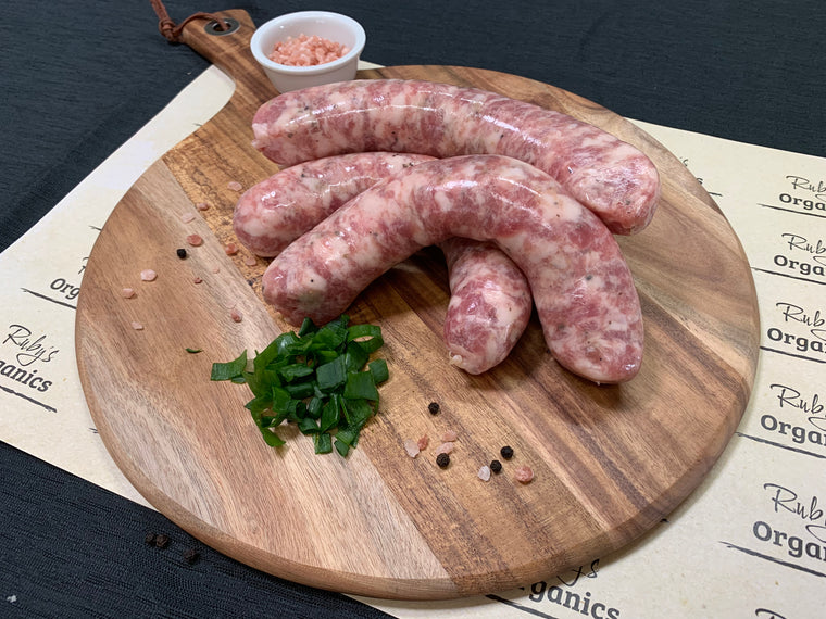 Pork Sausages - Pasture Fed Gluten and Preservative Free (500g)