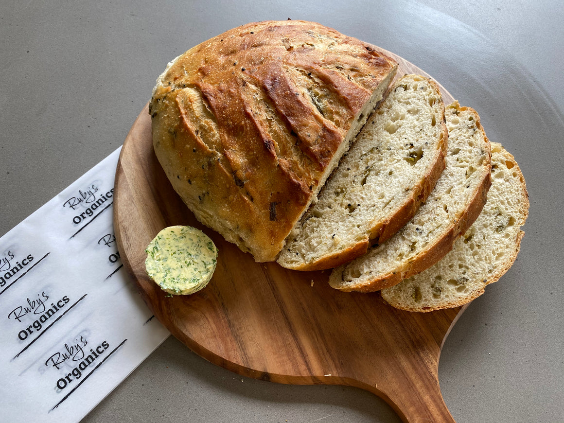 Sourdough Bread - Spring Onion Loaf (670g)