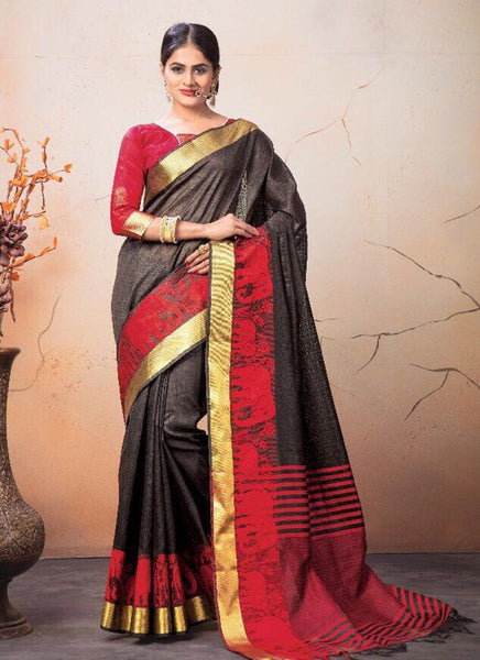 Catalog 7224: Georgette Party Wear Printed Work Sarees  - brown - Saree Safari, Buy