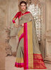 Silk Party Wear Border Work Saree- gray - Saree Safari, Buy