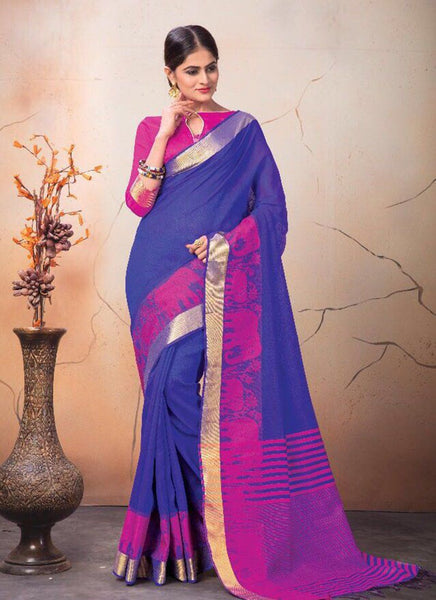 Catalog 7224: Georgette Party Wear Printed Work Sarees  - purple - Saree Safari, Buy