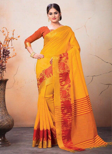 Catalog 7224: Georgette Party Wear Printed Work Sarees  - yellow - Saree Safari, Buy