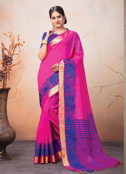 Catalog 7224: Georgette Party Wear Printed Work Sarees  - rani - Saree Safari, Buy