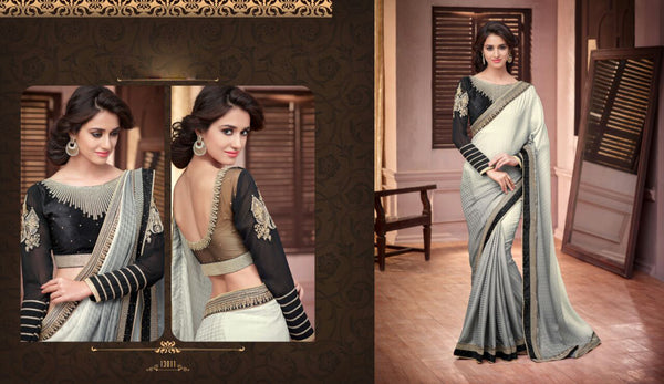 Pure Beautiful Satin Silk with oxodise zari work wedding Saree - Saree Safari, Buy
