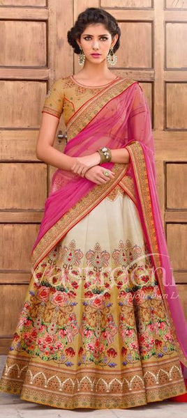 Art Silk Multi Color Lehenga - Saree Safari, Buy