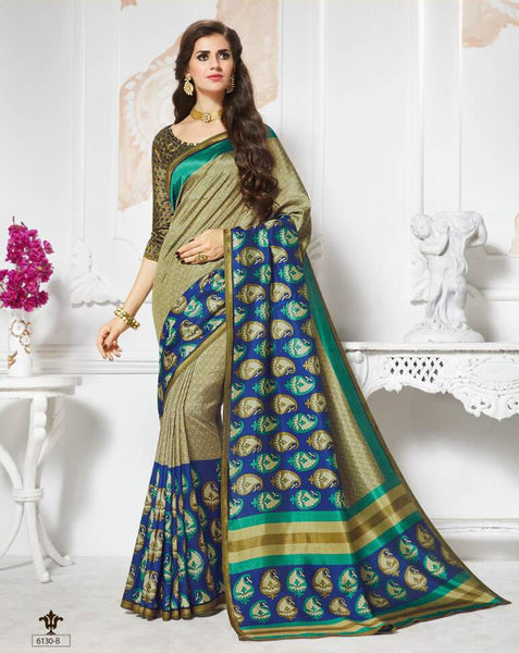 Vinamrita Faux Saree Collection- green - Saree Safari, Buy