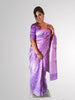 Saree in Purple Banarsi Tissue and Organza Silk