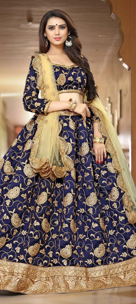 Blue color party wear lehenga - Saree Safari, Buy