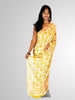 Saree in Yellow Pure Georgette with Tulip Printed Design