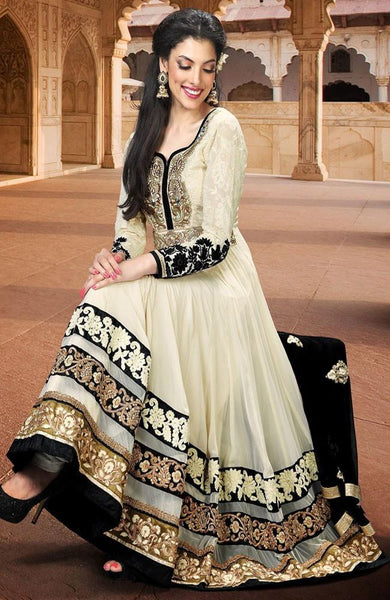ELEGANT HI-END ANARKALI OFF-WHITE - Saree Safari, Buy