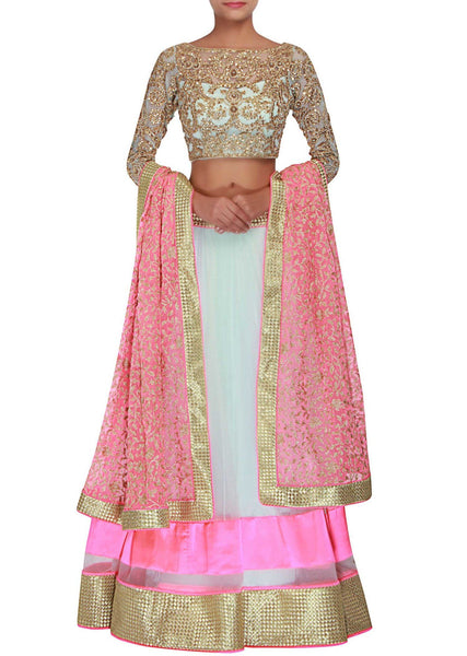 Pink and Majanta net l - Saree Safari, Buy