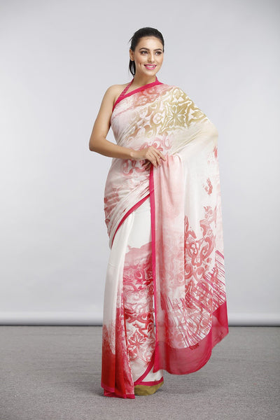Ethnic Rani Melange Saree - Saree Safari, Buy