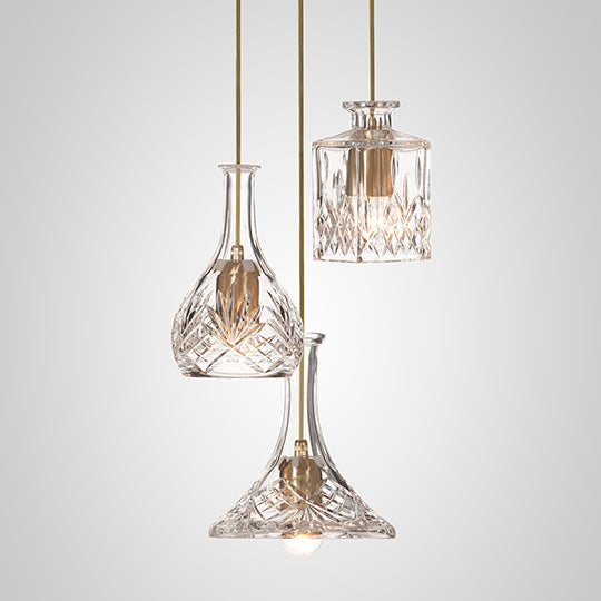 Decanterlight Chandelier 3 Piece