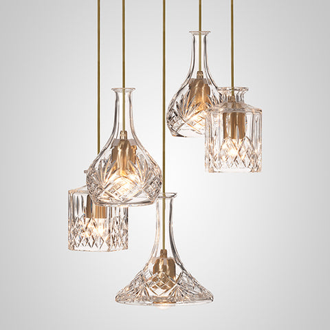 Decanterlight Chandelier 5 Piece