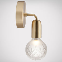 Crystal Bulb Wall Light