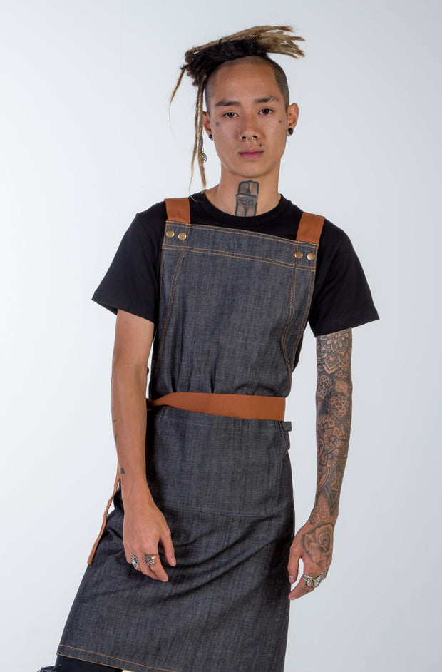 DENIM APRON FISHER