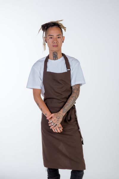 Chocolate brown Chef Aprons No pockets Niche