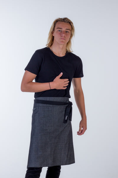 Denim waist aprons charcoal grey frazer Large size