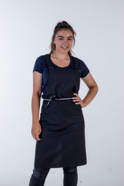 BLACK CANVAS APRON - SHANA